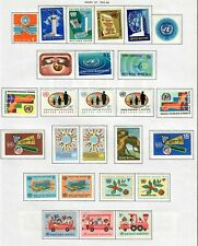$United Nations stamp collection on album pages, mix. cond. lot