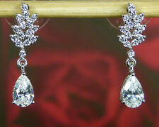 Wedding Bridal Swarovski Pure Brilliance Zirconia  Earrings Platinum / Sterling