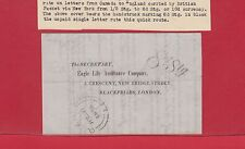 8d Stg. QUEBEC L.C. receiver, life Insurance co. doc. very nice, see info Canada