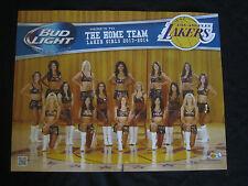 Bud Light Lakers Girl Cheerleader Poster Man Cave Bar Basketball NBA banner sign