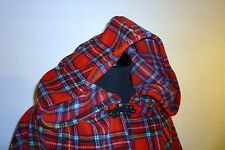 Manteau cape rouge stewart tartan highland wrap cape new riding hood promotion