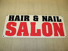 HAIR & NAIL SALON Banner Sign NEW XL Extra Large 4 Barber Shop Beauty Supply Tip