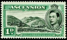 More details for ascension sg39, 1d black & green, m mint. cat £45.