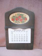 "Vintage Wood Wall Hanging Calendar Holder 16 1/2""T x 11""W"