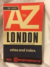 De Luxe A to Z LONDON Atlas & Street Index 1974  PB
