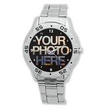 Stainless Steel Design Men's Watch Gift Personalised Custom Printed YOUR PHOTO