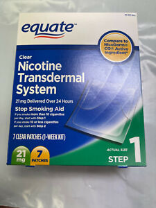 7 Nicotine Transdermal System Patch STEP ONE 21mg See Desc. Free Shipping!