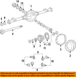 GM OEM Rear Differential-Side Bearings 25824251