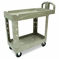 Rubbermaid Commercial Heavy Duty Utility Cart Two Shelf 17 18w X 38 12d X 38 7