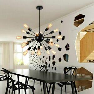 Modern Industrial Sputnik Chandelier 20 Lights Ceiling Pendant Bedroom Fixture