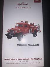 HALLMARK 2019 FIRE BRIGADE #17--1958 DODGE POWER WAGON FIRE ENGINE