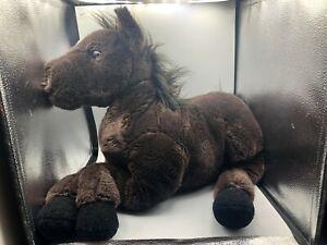Large Saddle Club Belle Warmblood Mare Horse Pony Black Plush Stuffed Toy Animal