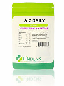 Multivitamin A-Z Daily - multivitamins multi vitamins 90 tablets Lindens