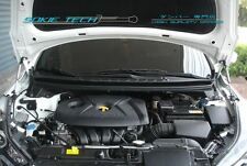 Silver Carbon Strut Hood Shock Damper for 11-15 Hyundai Elantra Avante MD UD