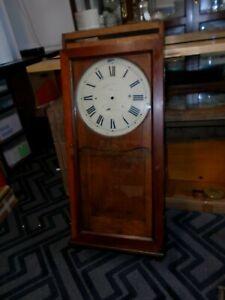 """Antique-Oak """"Waltham Electric Clock Co."""" Clock Case-Ca.1892-To Restore-#F78"""