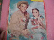 FT4 Vintage RARE Built Rite Buffalo Bill Jr. Calamity Jane Flying A Puzzle 1956