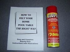 Pool Table Felt Adhesive Used by Professionals + FREE Pool Table Felting Manual