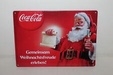 emailschild schild Coca Cola Weihnachten Blechschild SELTEN 29x21cm