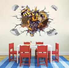 3D Transformers Bumblebee HUGE Wall Stickers Kids child playroom Home Decor USA