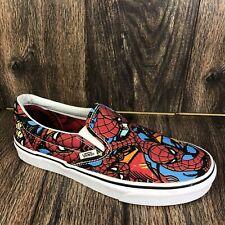 VANS x MARVEL Slip On SPIDERMAN Shoes Men's Size 7 Women's 8.5 Excellent Cond.