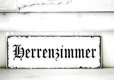 Shabby Schild Vintage  HERRENZIMMER   Nostalgie weiß Tafel
