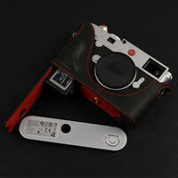 Handcrafted LEICA M10 leather Half Case HandGrip Battery access Magnetic Closure