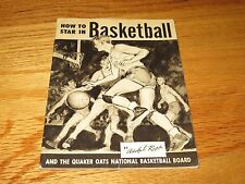 How to Star in BASKETBALL & Quaker Oats Nat'l Basketball Board ADOLPH RUPP Book