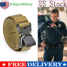 Men's Adjustable Nylon Belt Heavy Duty Military Tactical Belts Automatic Buckle