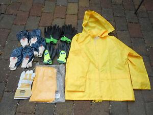 Arbeitsbekleidung Regenjacke Winterjacke Regenhose Thermohandschuhe Handschuhe