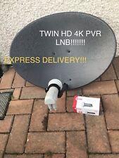 2017 LATEST ZONE 1 SKY DISH 60CM FREESAT TWIN!!! LNB PVR 4K HD SKY+