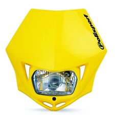 YELLOW Polisport MMX E-Marked Road Legal Headlight Enduro Streetfighter Bandit
