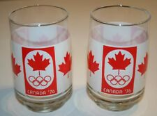 Vintage 1976 Olympics 1976 Team Canada Beer Glasses/ Red Maple Leaf