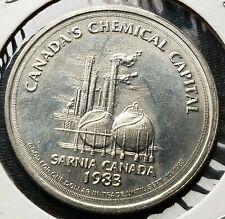 1983 Sarnia Ontario $1 Trade Dollar - Bushnell Refinery - Chemical Capital