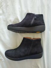 Brand New Women's Shoes FitFlop SUMI Suede Ankle Boots O54-001 BLACK L@@K