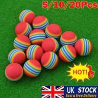 Swing Practice Training Ball Rainbow Stripe Foam EVA Sponge Golf Balls UK Stock~