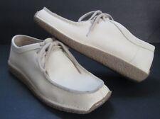 Eddie Bauer Beige Leather Boat Shoes Wallabees Women's Size 8 M