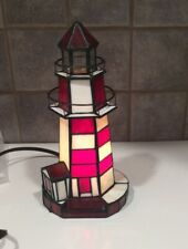 STAINED GLASS TIFFANY STYLE LIGHTHOUSE ACCENT LIGHT NIGHTLIGHT LAMP