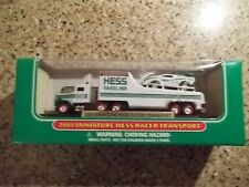 New 2001 Mini Miniature Hess RACER TRANSPORT Toy Truck MIB Amerada Hess RACECAR