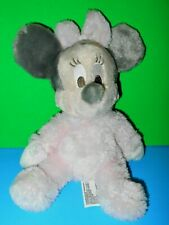 """New listing Adorable Cute Cuddly Pastel Pink Baby Minnie Mouse Disney Stuffed Rattle Toy 9"""""""