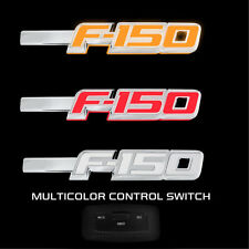 Ford F150 RECON LED Lighted Fender Emblems Fit 2009-2014 Chrome Trim