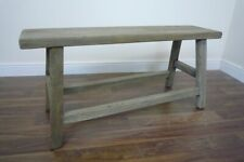 French Farmhouse Style Solid Wooden Bench - Handmade Solid Wood Bench