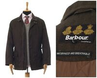 Mens BARBOUR Herringbone Challenger Coat Jacket Brown Size L