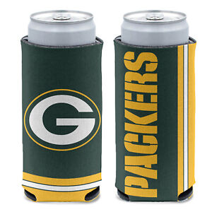 New 2-Sided Green Bay Packers Football League Licensed Slim Can Cooler- 1PC