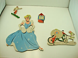 1950s Cinderella Disney Dolly Toy Pin-Ups Wall Decor Vintage