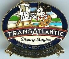 Disney Pin: DCL - Transatlantic Cruise Westbound 2007 Barcelona, Spain (Mickey)