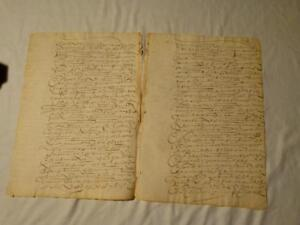 17-19thC French Portugese Italy Hand Written Document  SCROLLY WRITING #F4