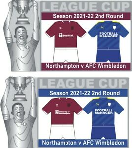 Northampton v AFC Wimbledon League Cup 2nd Round Matchday Pin Badge 2021-22