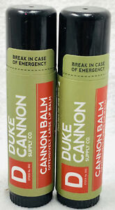 2 Duke Cannon Offensively Large Fresh Mint SPF 15 Organic Beeswax Lip Balm