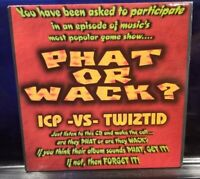 Insane Clown Posse or Twiztid - Phat or Wack 2nd Press CD Sampler dark lotus icp
