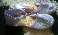 859fd20dde0c8 Ladybird Size 5 38 Lilac Sandals. Sequins And Woven Bottoms. Pretty